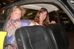 Kathe & Massimo's wife crammed into back seat of KG for tour of Florence
