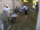 Laying patio cement