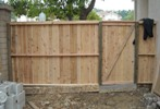 new 6' wood front gate