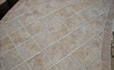 close-up of tile grout