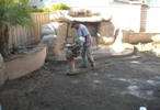 Compacting the dirt