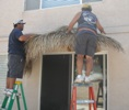 Installing Palapas Thatch