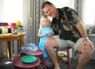 Uncle Andy in the playhouse